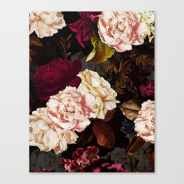 Vintage & Shabby Chic - Midnight Rose and Peony Garden Canvas Print