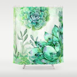 Irish Mint Garden Shower Curtain