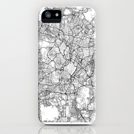 Kuala Lumpur Map White iPhone Case
