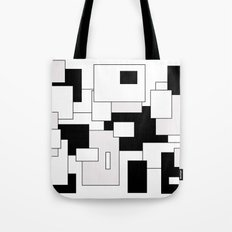 Squares - gray, black and white Tote Bag