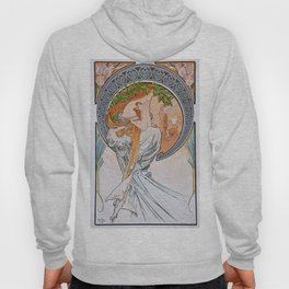 Alfons Mucha - For Art, Painting - Digital Remastered Edition Hoody