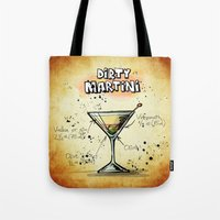 martini Tote Bags featuring Dirty Martini by jamfoto