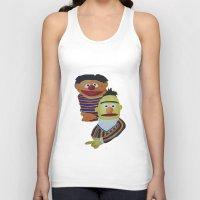 sesame street Tank Tops featuring Sesame Street Bert and Ernie by ArtSchool