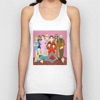 tenenbaums Tank Tops featuring Royal Tenenbaums Family Portrait  by AnaMF