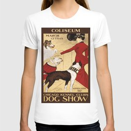 Vintage poster - Chicago Kennel Club's Dog Show T-shirt