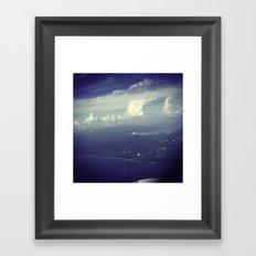 Sky Surfing Framed Art Print