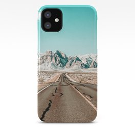Vintage Desert Road // Winter Storm Red Rock Canyon Las Vegas Nature Scenery View iPhone Case