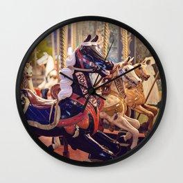 Paris Carousel Wall Clock