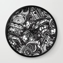 Automobile car parts pattern Wall Clock