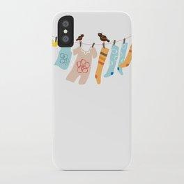 Clothes Line iPhone Case