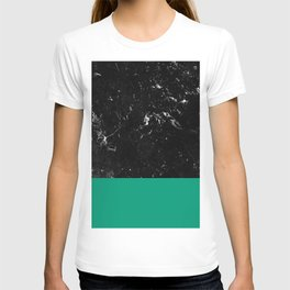 Emerald Meets Black Marble #1 #decor #art #society6 T-shirt