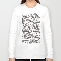 penguins Long Sleeve T-shirts featuring Penguins! by Jazzlikestodraw