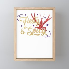 FIesty and SPicy Mardi Gras Crawfish Framed Mini Art Print