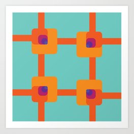 Egnaro Dezinrettap Art Print