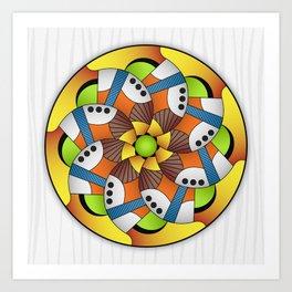 Mandala Horn Art Print