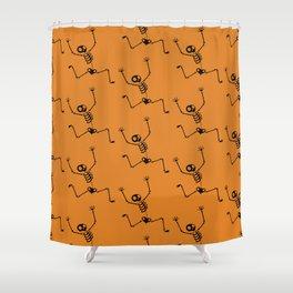 Halloween Skeleton Pattern Shower Curtain