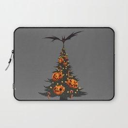 Halloween Christmas Tree - Gray Laptop Sleeve