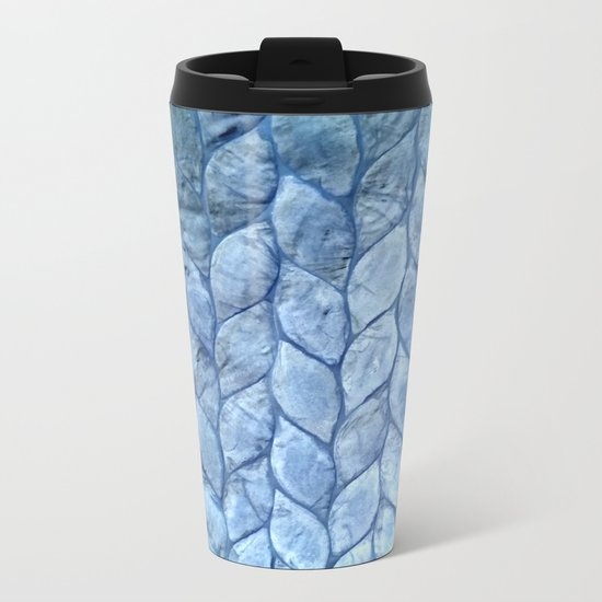 Ocean Blue Shell Metal Travel Mug