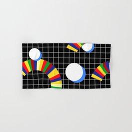 Memphis Grid & Rainbows Hand & Bath Towel