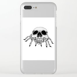 Creepy Crawler Clear iPhone Case
