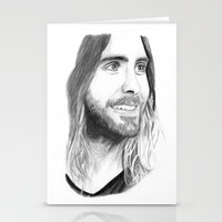 jared leto Stationery Cards featuring Jared Leto by Art by Cathrine Gressum