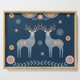 Nordic Winter Blue Serving Tray