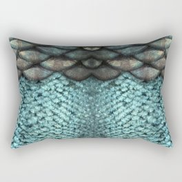 Mermaid Scales Dreamy Sea Blue Rectangular Pillow