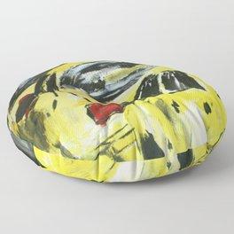 New York Taxis Fine Art Acrylic Painting Floor Pillow