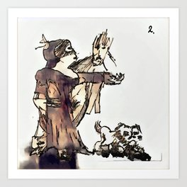 Los Caprichos ~ 2 ~ They Say Yes Art Print