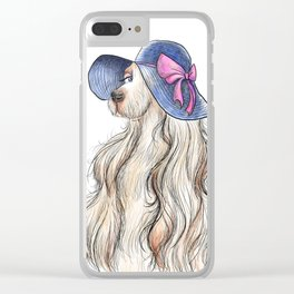 Lady Dog Clear iPhone Case