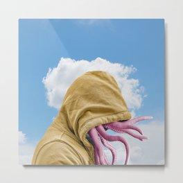 Octopus Head Metal Print