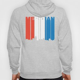 Red White And Blue Meridian Mississippi Skyline Hoody
