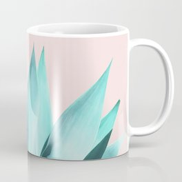 Stellar Agave and Full Moon - pastel aqua and pink Coffee Mug