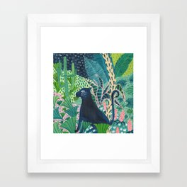 Jungle Jaguar Framed Art Print