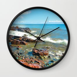 Rocky Shore 1 Wall Clock