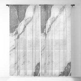 Titan River Black Sheer Curtain