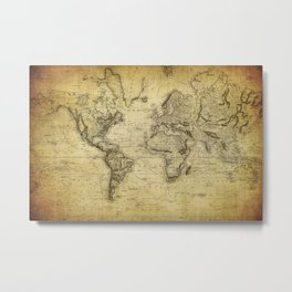 World Map 1814 Metal Print