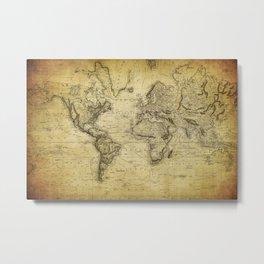 World Map 1814 Metal Print