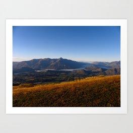 Coronet Peak Art Print