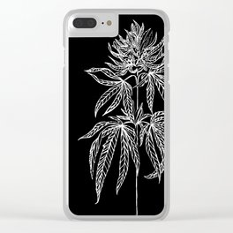 Reverse Cannabis Illustration Clear iPhone Case