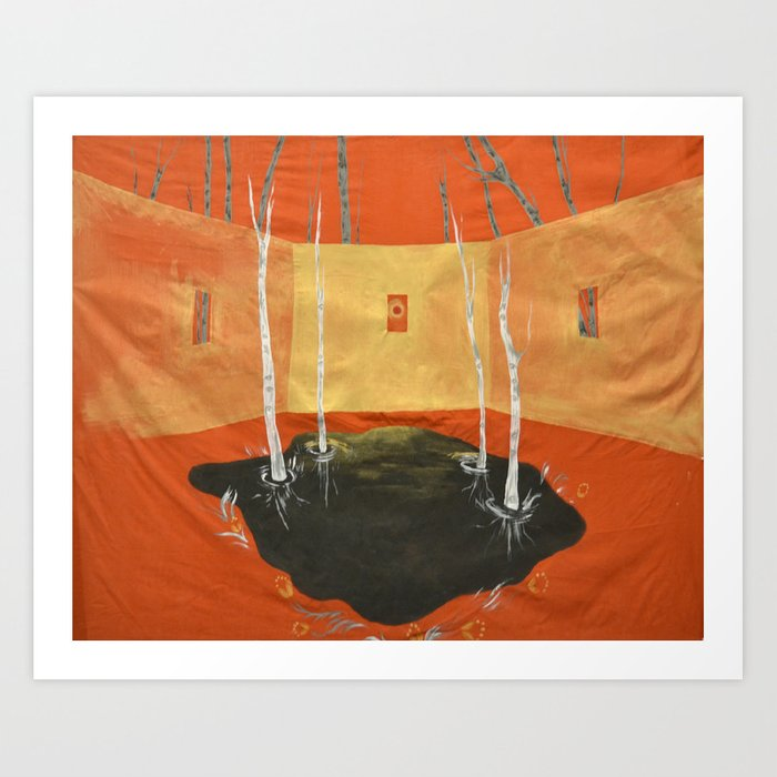 A Room in the Woods Art Print