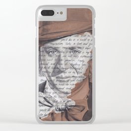 Willy Wonka Portrait with Pure Imagination Lyrics Clear iPhone Case