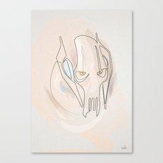 Oneline General Grievous Canvas Print