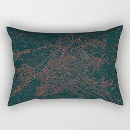 Bern Map Red Rectangular Pillow