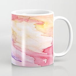 Color My World Watercolor Abstract Painting Coffee Mug