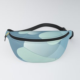 Leaves on blue Fanny Pack