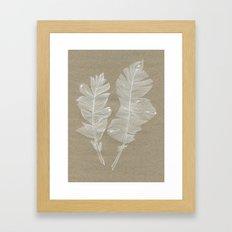 white feathers Framed Art Print