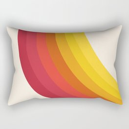 4-Sho - retro 70s style throwback vibes 1970's trendy decor art minimalist rainbow stripes Rectangular Pillow
