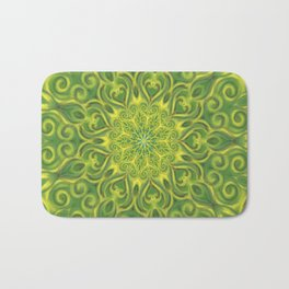 green center swirl mandala Bath Mat