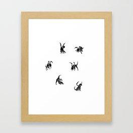 SIX POOL Framed Art Print